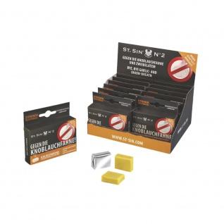 ST. SIN N°2 - Display mit 12 Schachteln à 5 Zitronen-Geschmack Kaubonbons gegen Knoblauchatem/Zwiebelatem! - Vorschau 1