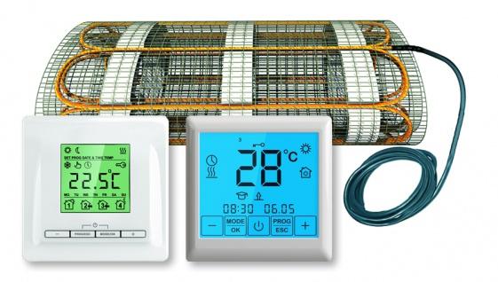 Thermostat FBHT + Heizmatte 160W/m² VDE geprüft Fußbodenheizungssysteme