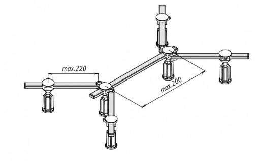 Duschwannenfuß Wannenfuß Stahl / Acryl Duschwannen 75x75 - 100x100 cm Höhenverstellbar von 100-135mm - Vorschau 2