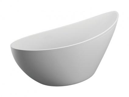 Freistehende Badewanne   weiß   180 x 80 x 60 cm inkl. Wannenfuß und Ablaufgarnitur - Vorschau 2