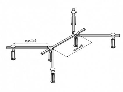 Duschwannenfuß Wannenfuß für Stahl / Acryl Duschwannen 75x75 bis 120x120cm Höhenverstellbar von 125 bis 185mm - Vorschau 2