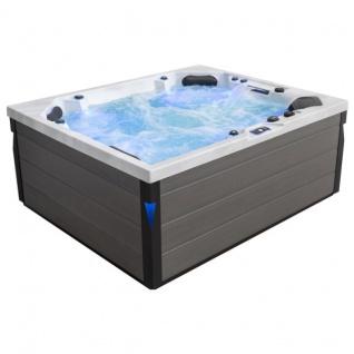 Komfortabler Aussenwhirlpool SPA Pool Schwimspas 225x185 grau