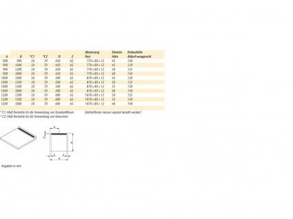 Duschboard | Ablauf waagerecht | werkseitiger Abdichtung | perfekt für die Renovierung/neubau - Vorschau 3