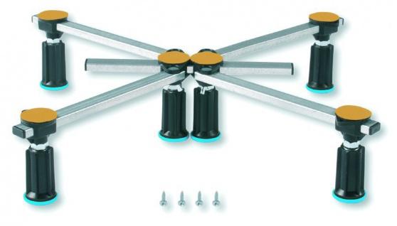 Duschwannenfuß Wannenfuß für Stahl / Acryl Duschwannen 75x75 bis 120x120cm Höhenverstellbar von 125 bis 185mm