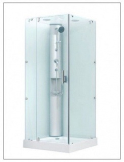 Dusche mit Rundumverglasung Eckeinstieg Duschkabine Sonderangebot aufbau ohne Silikon