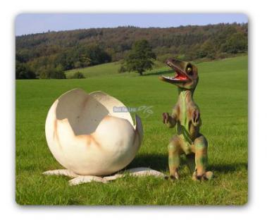 Tyrannosaurus Rex Baby im Ei Figur Statue Dino - Vorschau 4