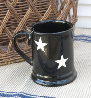 Tasse Geschirr Landhausstil Stern Becher Stars Tee gemütlich