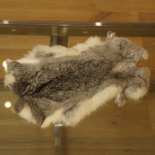 Kaninchenfell Dekoration Fell Deko grau