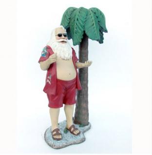 Weihnachtsmann mit Palme Dekoration Figur Deko
