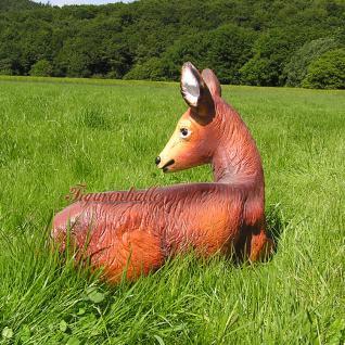 Reh Dekofigur Rot-Wild Statue Figur Rehbock - Vorschau 2