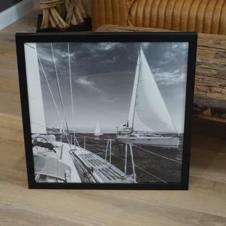 Wandbild Maritim Segelyacht Sportboot Aufnahme gerahmt