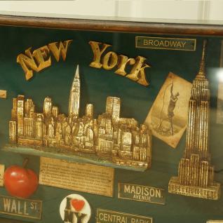 New York Vitrine Schaukasten Nostalgie Antik Dekoration Deko - Vorschau 3