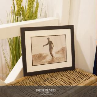 Sufer Tom Blake Wandbild gerahmt Foto schwarz weiß