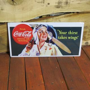 Nostalgie Coca Cola Schild Retro Reklame Blechschild