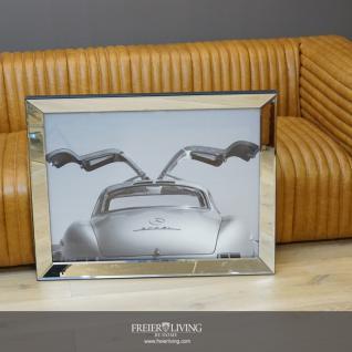 300 SL Mercedes Flügeltürer silber Wandbild Eingerahmt