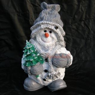 Schneemann Dekofigur Winterfigur Weihnachtsdeko