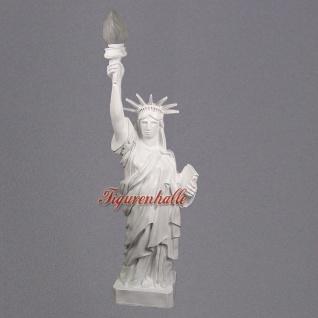 Freiheitsstatue Liberty Figur Stehleuchter weiß