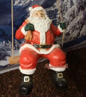 Weihnachtsmann Schaukel Weihnachtsfigur Advent Santa hängend Christmas Figur neu