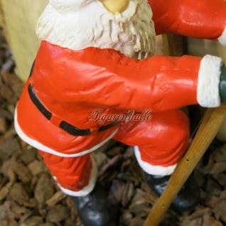 Weihnachtsmann Leiter kletternd Figur Statue Skulptur - Vorschau 2