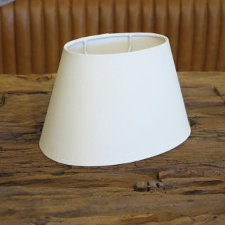 Lampenschirm oval weiß e27 20cm
