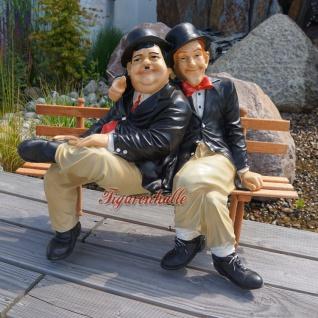 Dick und Doof Stan Laurel Oliver Hardy auf Bank Figur