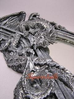 Drachen Spiegel im Gothic Style Figur Statue - Vorschau 3