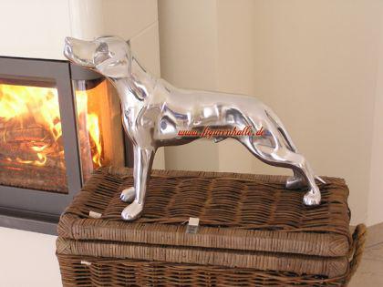 Aluminium Jagd Hund Figur Statue Skulptur Weimaraner