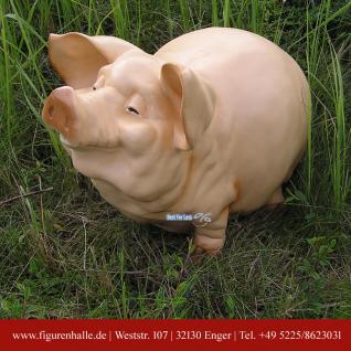 Schwein Ferkel als lustige Figur und Statue