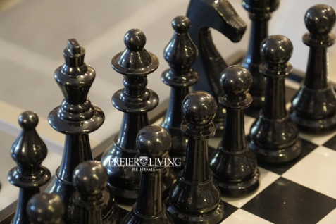 Aluminium Schachspiel edel Metall Luxus Deko Home Interiors Rivera - Vorschau 2