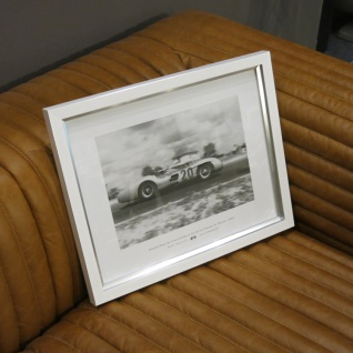 Rahmen weiß Wandbild Fotodruck Mercedes Benz Schwarz weiß 1955 Oldtimer Racing