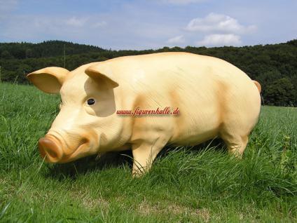 Schwein Figur groß Deko Bauernhof Tierfigur rosa