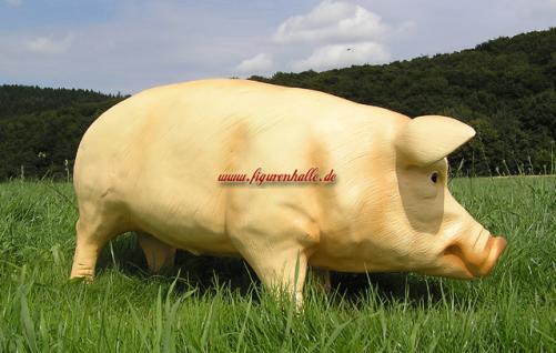 Schwein Figur groß Deko Bauernhof Tierfigur rosa - Vorschau 2