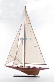 Segelboot Endeavour Yacht Segelschiff Segler Segelyacht Holz Standmodell