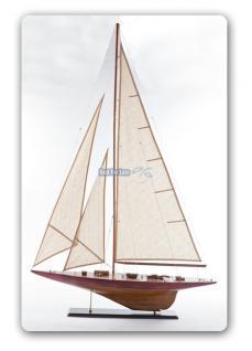 Segelboot Endeavour Yacht Segelschiff Segler Segelyacht Holz Standmodell - Vorschau 2