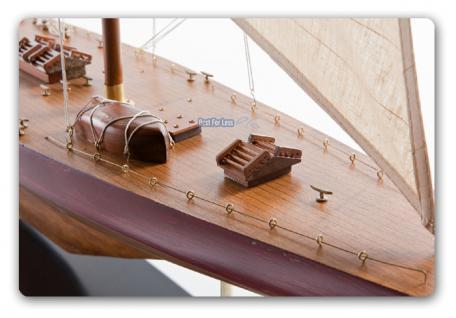 Segelboot Endeavour Yacht Segelschiff Segler Segelyacht Holz Standmodell - Vorschau 3