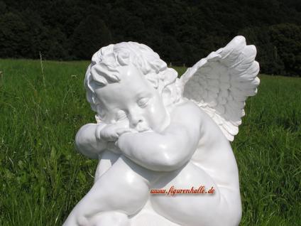Engel auf Kugel Dekofigur Garten Deko Statue Figur - Vorschau 2