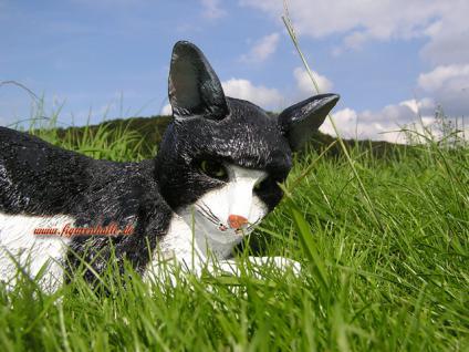Katze Kater als Dekofigur Gartenfigur - Vorschau 3