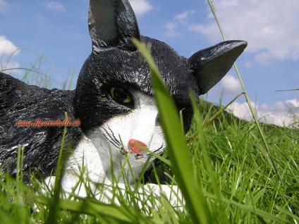 Katze Kater als Dekofigur Gartenfigur - Vorschau 5