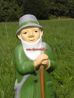 Schäfer Dekofigur und Statue in grünem Mantel