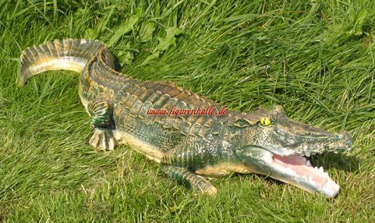 Krokodil Alligator Dekofigur Figur Statue