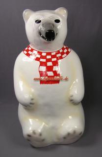 Lustiger Eisbär als Statue Figur Dekorations Werbefigur