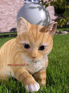 Tigerkatze beige als Figur und Statue