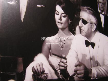 Wandbild Spiegelrahmen James Bond 007 im Casino Schwarz weiß Druck Bild Poster - Vorschau 2