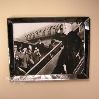 Marilyn Monroe Wandbild Kunstdruck JFK Airport schwarz weiß Foto