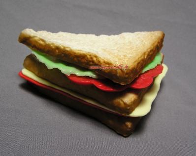 Sandwich Tostbrot Künstliches belegt Dummy Attrappe Deko