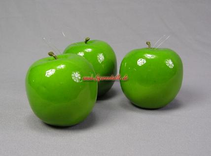 Deko Äpfel Apfel grün Figur Dummy Attrappe aufhänger Baum Deko - Vorschau 1