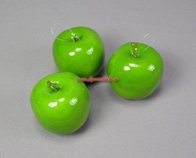 Deko Äpfel Apfel grün Figur Dummy Attrappe aufhänger Baum Deko - Vorschau 2