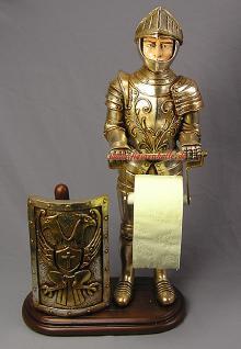 Toilettenpapier aufbewahrung Antik Römer Ritter als Toilettenpapierhalter WC
