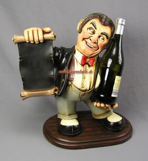 Antik Diner als Flaschenhalter Restaurant Deko Bar Kneipe Weinflasche - Vorschau 2