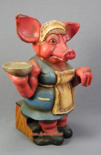 Koch Werbefigur für Imbisswagen als Butler Schwein Figur Statue